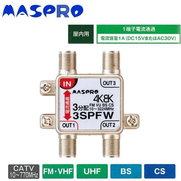 3分配器 マスプロ電工 4K8K放送対応 3分配器 3SPFW