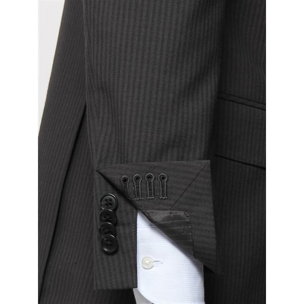2パンツスーツ/メンズ/春夏/ツーパンツ/BASIC 3つボタンスーツ シャドーストライプ TR-12 チャコールグレー|uktsc|07