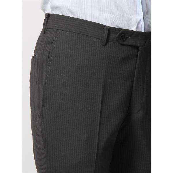 2パンツスーツ/メンズ/春夏/ツーパンツ/BASIC 3つボタンスーツ シャドーストライプ TR-12 チャコールグレー|uktsc|09