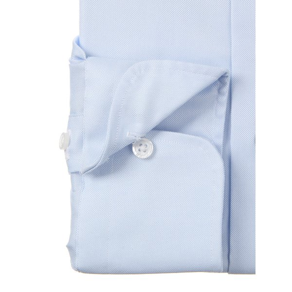 ドレスシャツ/長袖/メンズ/ワイドカラードレスシャツ 織柄 サックスブルー×ホワイト|uktsc|03