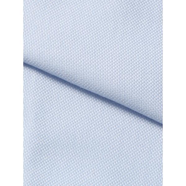 ドレスシャツ/長袖/メンズ/ワイドカラードレスシャツ 織柄 サックスブルー×ホワイト|uktsc|04