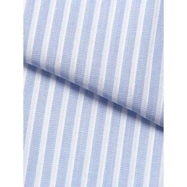 ドレスシャツ/長袖/メンズ/クレリック&タブカラードレスシャツ ストライプ /Fabric by Albini/ ホワイト×サックスブルー|uktsc|04