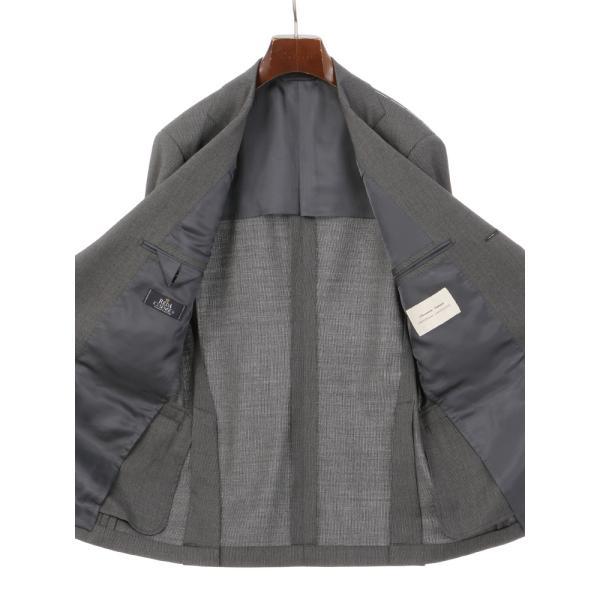 2パンツスーツ/メンズ/春夏/ツーパンツ・ICE SENSE/3つボタンスーツ ピンストライプ TR-12 ミディアムグレー×ライトグレー|uktsc|05