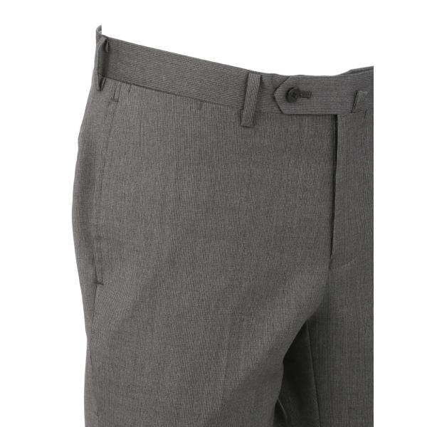 2パンツスーツ/メンズ/春夏/ツーパンツ・ICE SENSE/3つボタンスーツ ピンストライプ TR-12 ミディアムグレー×ライトグレー|uktsc|08