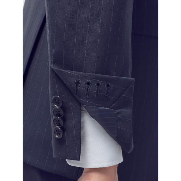 2パンツスーツ/メンズ/通年/ツーパンツ/FIT 2つボタンスーツ ピンストライプ CH-14 ネイビー×ブルー|uktsc|06