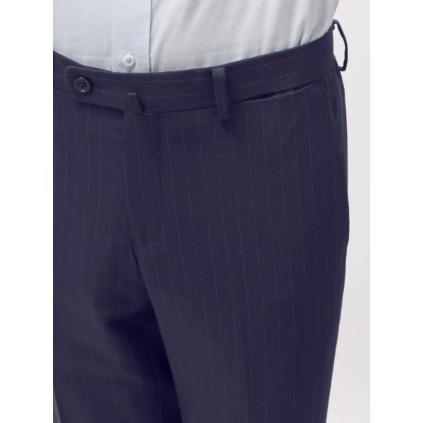 2パンツスーツ/メンズ/通年/ツーパンツ/FIT 2つボタンスーツ ピンストライプ CH-14 ネイビー×ブルー|uktsc|08