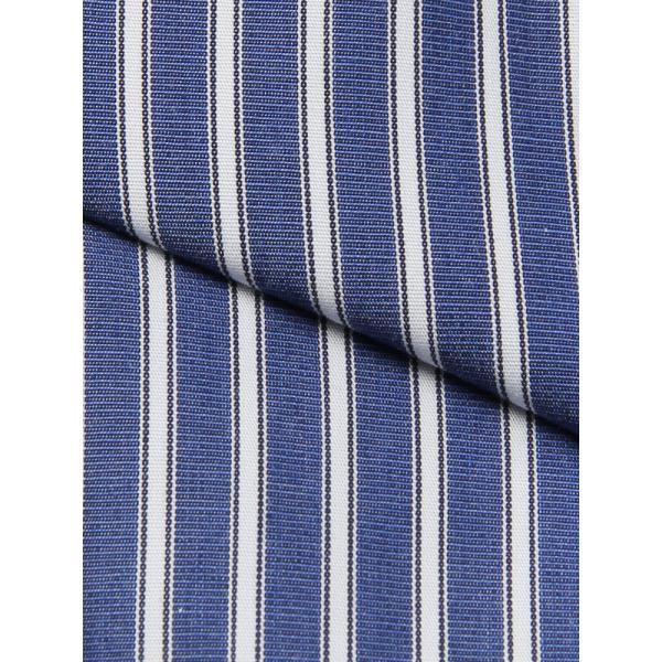 ドレスシャツ/長袖/メンズ/ANTONIO LAVERDA/ワイドカラードレスシャツ ストライプ 〔Easy Care〕 ネイビー×ホワイト|uktsc|05