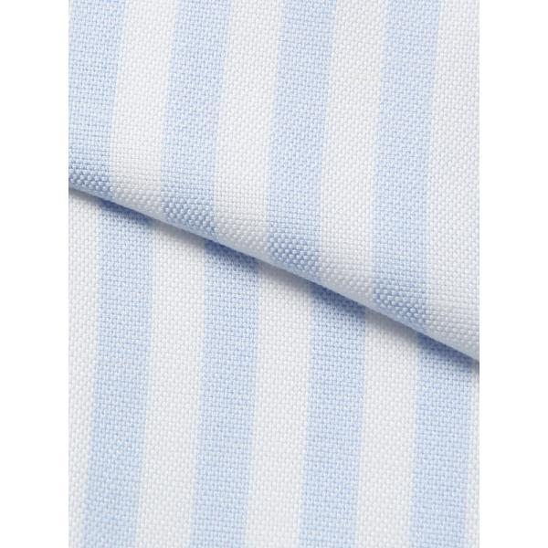 ドレスシャツ/長袖/メンズ/ANTONIO LAVERDA/ワンピースカラードレスシャツ ストライプ 〔Easy Care〕 サックスブルー×ホワイト|uktsc|05
