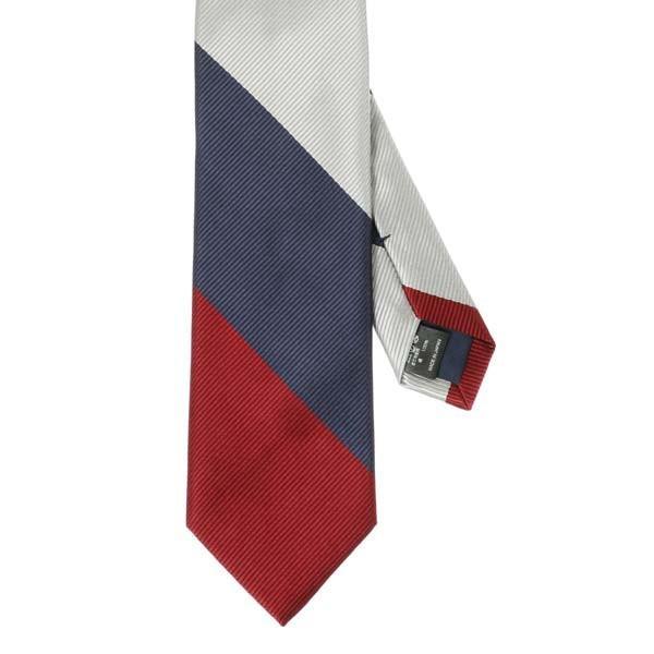 ネクタイ/レギュラータイ/メンズ/blazer's bank.com/ストライプ柄ネクタイ レッド系|uktsc|02