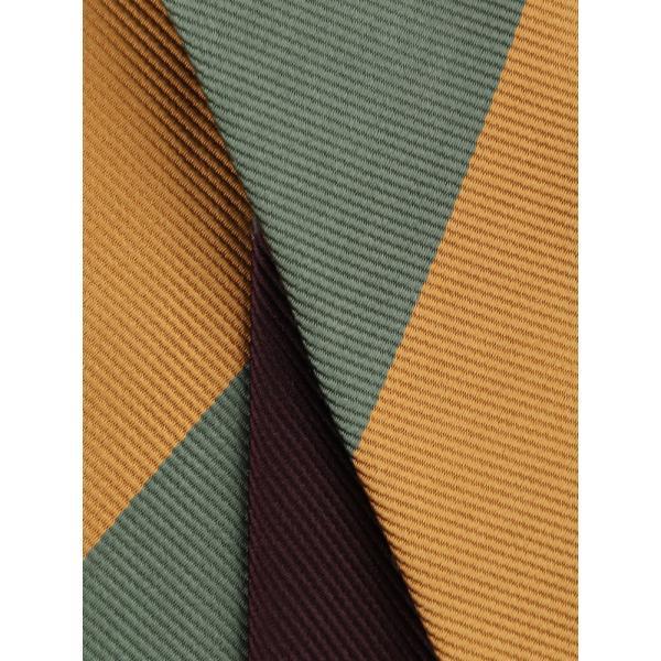 ネクタイ/レギュラータイ/メンズ/British Collection/JAPAN MADE/ストライプ×織柄ネクタイ イエロー系 uktsc 04