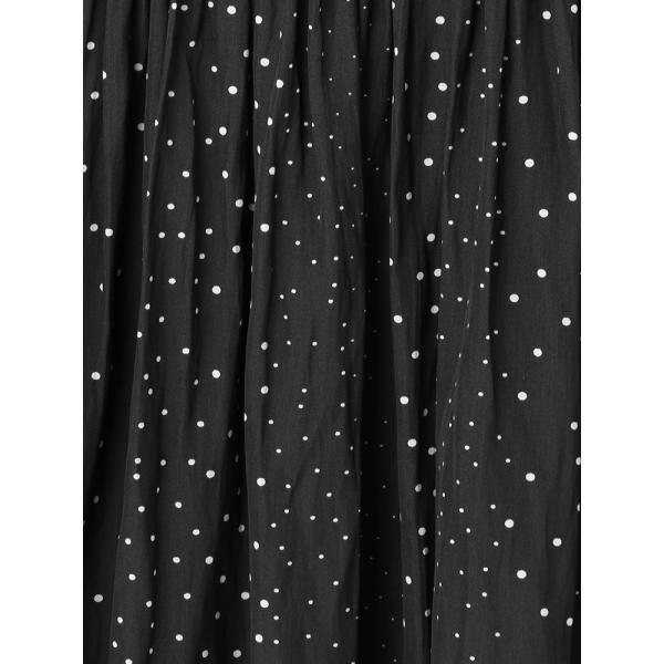 スーツ/レディース/セットアップ/春夏/ハンドウォッシュ/Yangany/ランダムドットプリント ギャザースカート ネイビー×ホワイト|uktsc|05