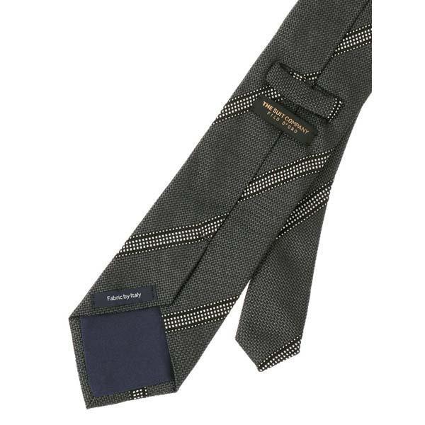 ネクタイ/レギュラータイ/メンズ/FILO D'ORO/ストライプ柄フレスコタイ/Fabric by ITALY/ グレー系|uktsc|03