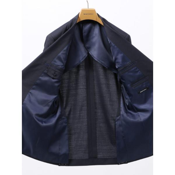 2パンツスーツ/メンズ/春夏/ツーパンツ/BASIC 2つボタンスーツ ピンストライプ IZ-01 ネイビー×ライトグレー|uktsc|05