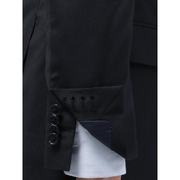 2パンツスーツ/メンズ/春夏/ツーパンツ/BASIC 2つボタンスーツ ピンストライプ IZ-01 ネイビー×ライトグレー|uktsc|06