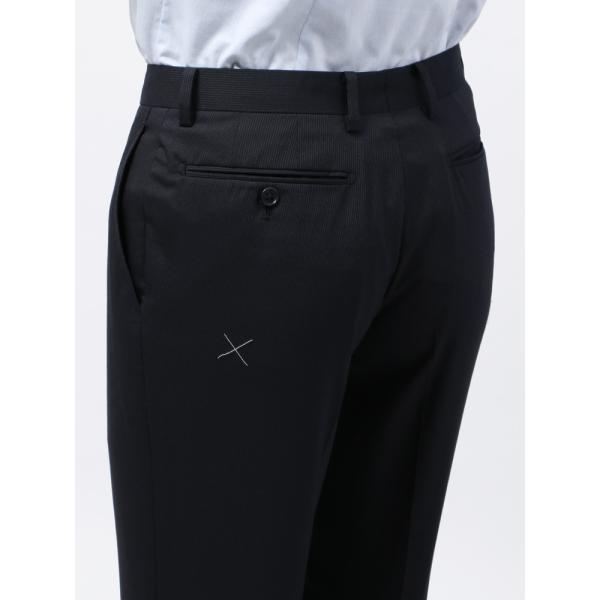 2パンツスーツ/メンズ/春夏/ツーパンツ/BASIC 2つボタンスーツ ピンストライプ IZ-01 ネイビー×ライトグレー|uktsc|09