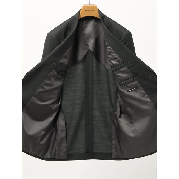 2パンツスーツ/メンズ/春夏/ツーパンツ/BASIC 2つボタンスーツ ピンストライプ IZ-01 チャコールグレー×ミディアムグレー|uktsc|05