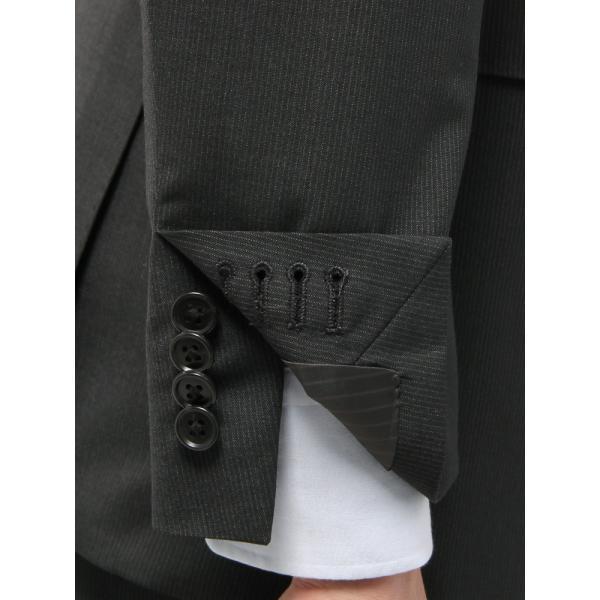 2パンツスーツ/メンズ/春夏/ツーパンツ/BASIC 2つボタンスーツ ピンストライプ IZ-01 チャコールグレー×ミディアムグレー|uktsc|06