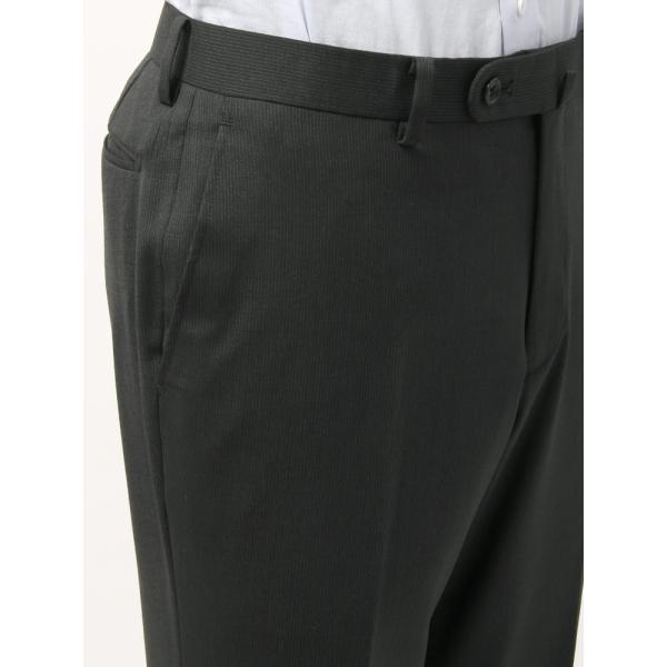 2パンツスーツ/メンズ/春夏/ツーパンツ/BASIC 2つボタンスーツ ピンストライプ IZ-01 チャコールグレー×ミディアムグレー|uktsc|08