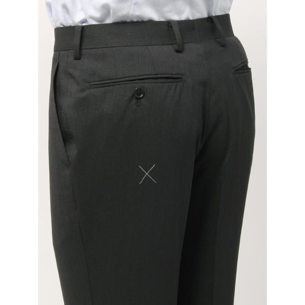 2パンツスーツ/メンズ/春夏/ツーパンツ/BASIC 2つボタンスーツ ピンストライプ IZ-01 チャコールグレー×ミディアムグレー|uktsc|09