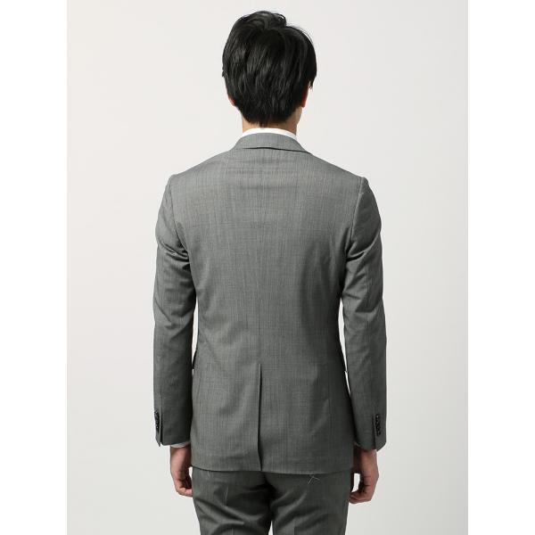 2パンツスーツ/メンズ/春夏/ツーパンツ・ウォッシャブル・COOL MAX/FIT 2つボタンスーツ ピンチェック NR-05 ミディアムグレー×ライトグレー|uktsc|04