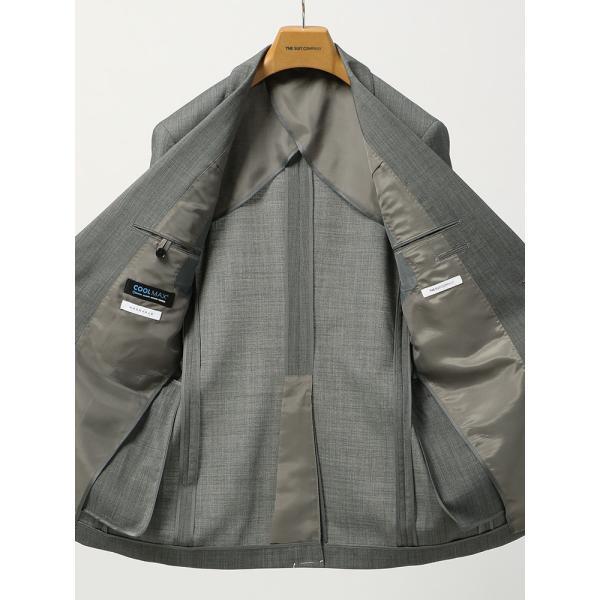 2パンツスーツ/メンズ/春夏/ツーパンツ・ウォッシャブル・COOL MAX/FIT 2つボタンスーツ ピンチェック NR-05 ミディアムグレー×ライトグレー|uktsc|05