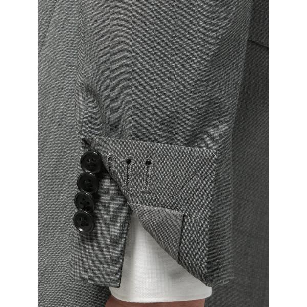 2パンツスーツ/メンズ/春夏/ツーパンツ・ウォッシャブル・COOL MAX/FIT 2つボタンスーツ ピンチェック NR-05 ミディアムグレー×ライトグレー|uktsc|06