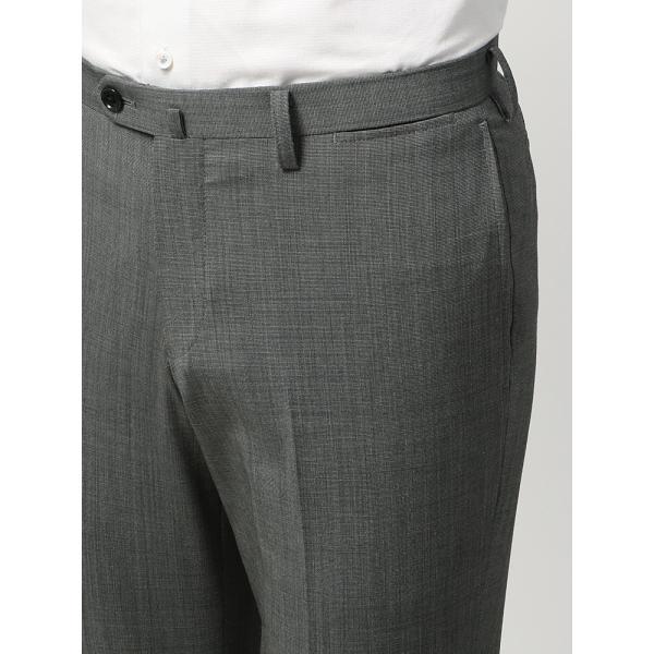 2パンツスーツ/メンズ/春夏/ツーパンツ・ウォッシャブル・COOL MAX/FIT 2つボタンスーツ ピンチェック NR-05 ミディアムグレー×ライトグレー|uktsc|08