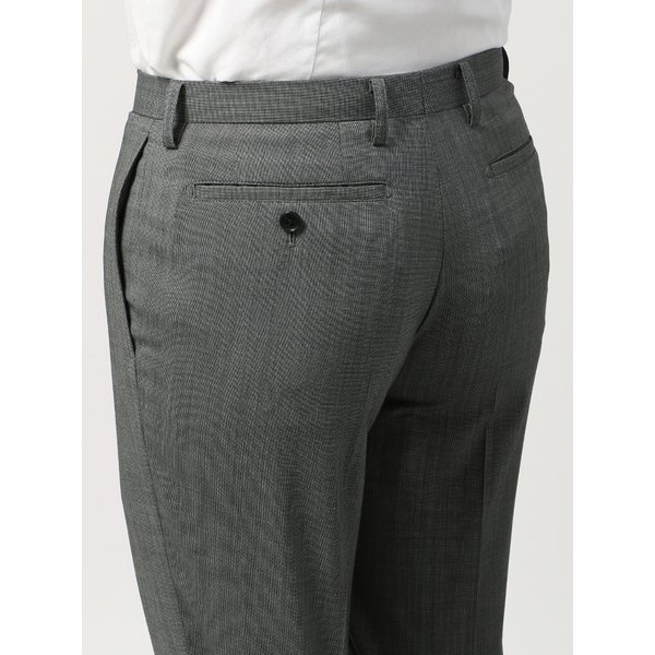 2パンツスーツ/メンズ/春夏/ツーパンツ・ウォッシャブル・COOL MAX/FIT 2つボタンスーツ ピンチェック NR-05 ミディアムグレー×ライトグレー|uktsc|09