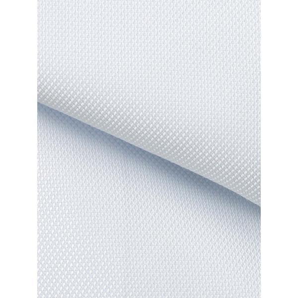 ドレスシャツ/長袖/メンズ/COOL MAX/ワイドカラードレスシャツ 織柄 〔EC・BASIC〕 サックスブルー|uktsc|04