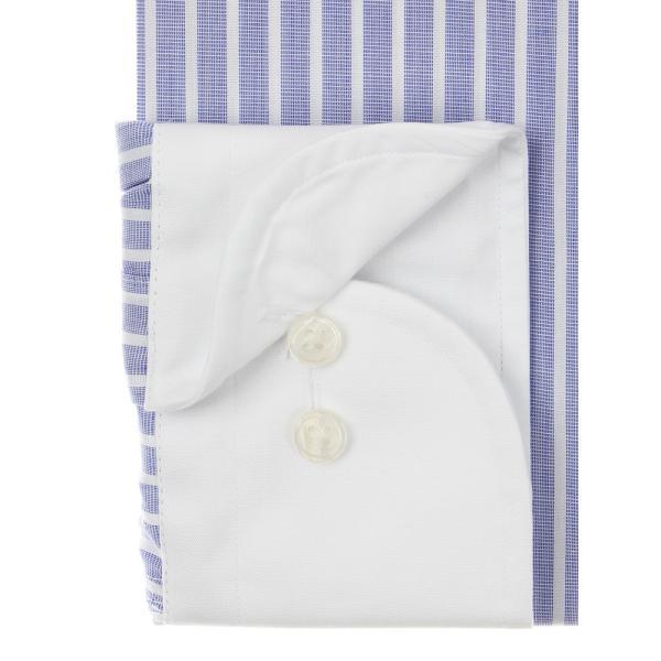 ドレスシャツ/長袖/メンズ/SUPER EASY CARE/クレリック&ワイドカラードレスシャツ〔EC・BASIC〕 ブルー×ホワイト|uktsc|03