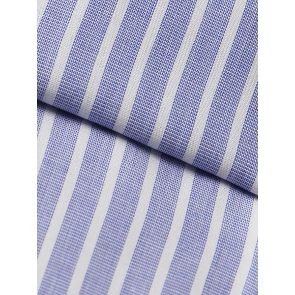 ドレスシャツ/長袖/メンズ/SUPER EASY CARE/クレリック&ワイドカラードレスシャツ〔EC・BASIC〕 ブルー×ホワイト|uktsc|04