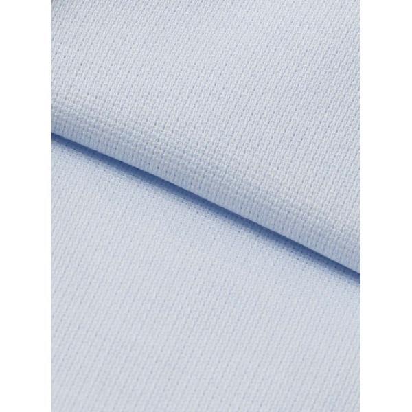 ドレスシャツ/長袖/メンズ/SUPER EASY CARE/ワイドカラードレスシャツ 織柄 〔EC・BASIC〕 サックスブルー|uktsc|04