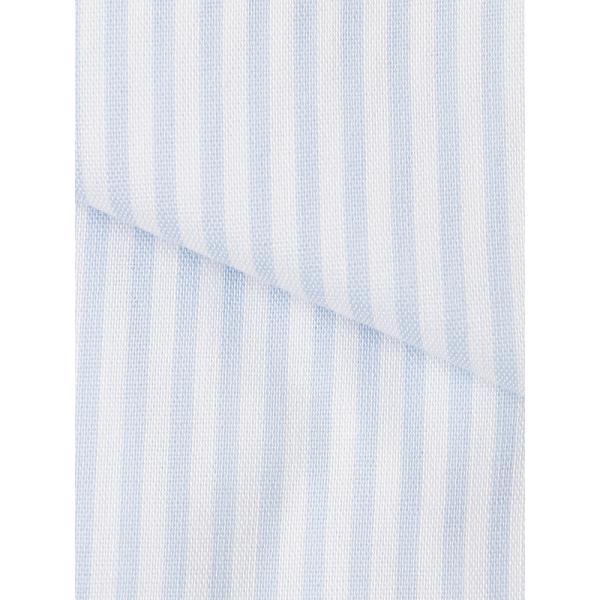 ドレスシャツ/長袖/メンズ/SUPER EASY CARE/ワイドカラードレスシャツ ストライプ 〔EC・BASIC〕 ブルー×ホワイト|uktsc|04