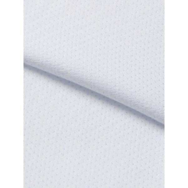 ドレスシャツ/長袖/メンズ/NON IRON STRETCH/ワイドカラードレスシャツ ピンドット 〔EC・BASIC〕 サックスブルー|uktsc|04
