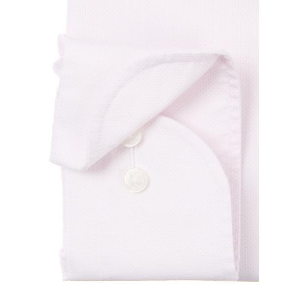 ドレスシャツ/長袖/メンズ/NON IRON STRETCH/ワイドカラードレスシャツ ピンドット 〔EC・BASIC〕 ピンク|uktsc|03