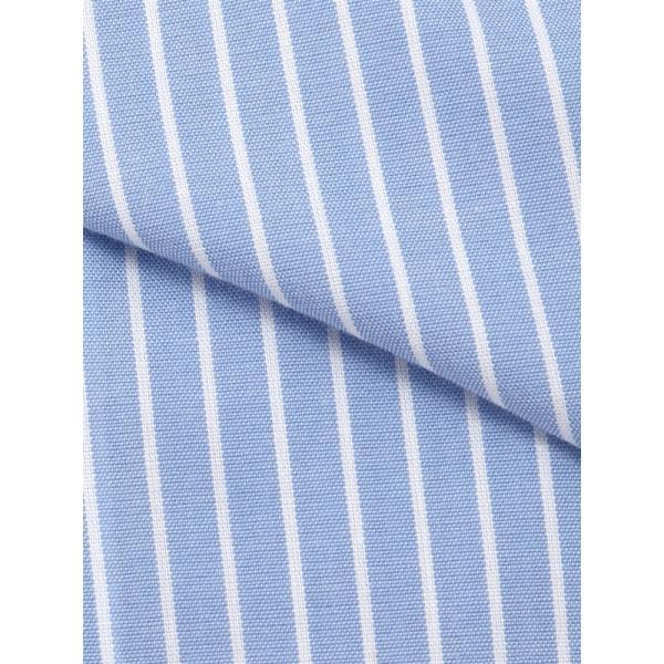 ドレスシャツ/長袖/メンズ/NON IRON STRETCH/クレリック&ワイドカラードレスシャツ 〔EC・BASIC〕 ブルー×ホワイト uktsc 04