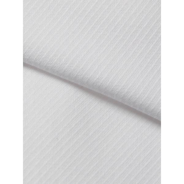 ドレスシャツ/長袖/メンズ/ワイドカラードレスシャツ 織柄 〔EC・FIT〕 ホワイト|uktsc|04