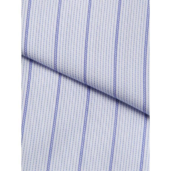 ドレスシャツ/長袖/メンズ/COOL MAX/ワイドカラードレスシャツ ストライプ 〔EC・FIT〕 サックスブルー×ネイビー×ホワイト|uktsc|04