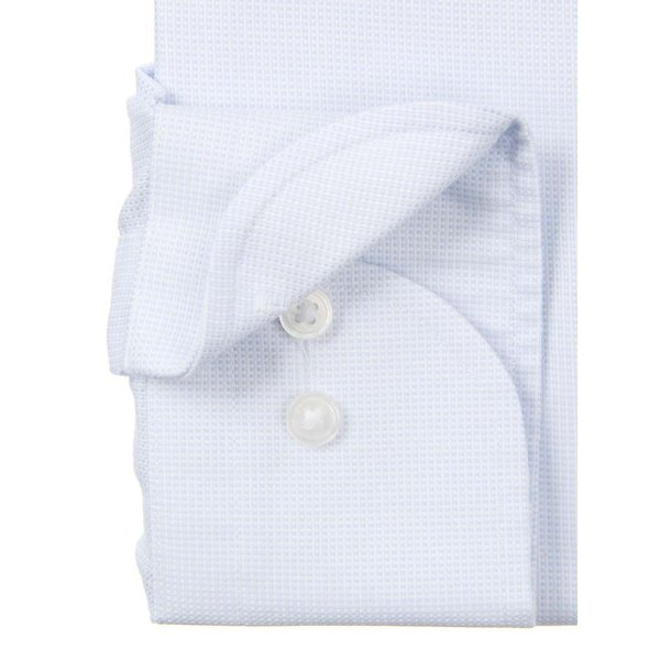 ドレスシャツ/長袖/メンズ/NON IRON STRETCH/ワイドカラードレスシャツ 織柄 〔EC・FIT〕 ブルー×ホワイト uktsc 03