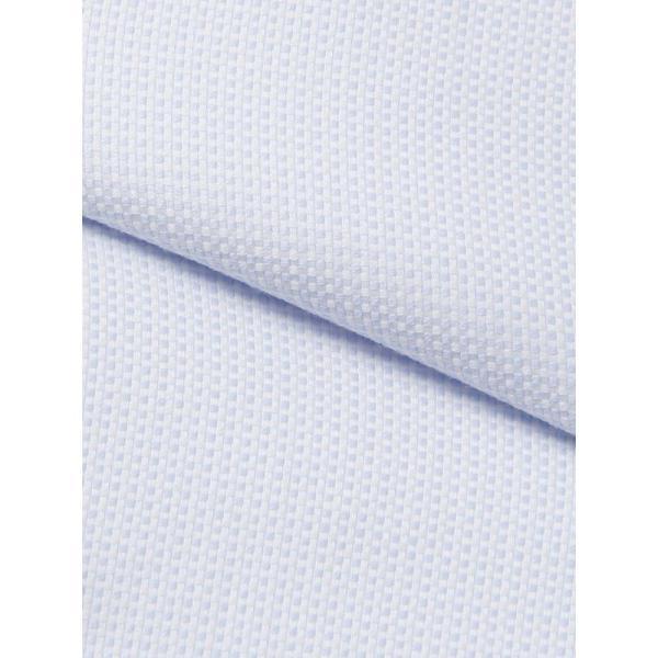 ドレスシャツ/長袖/メンズ/NON IRON STRETCH/ワイドカラードレスシャツ 織柄 〔EC・FIT〕 ブルー×ホワイト uktsc 04