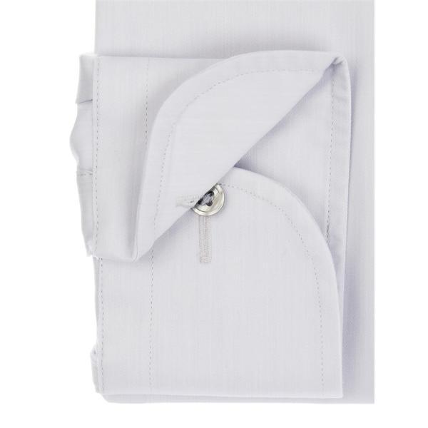 ドレスシャツ/長袖/メンズ/SUPER EASY CARE/ワイドカラードレスシャツ 無地 〔EC・FIT〕 ライトグレー|uktsc|03