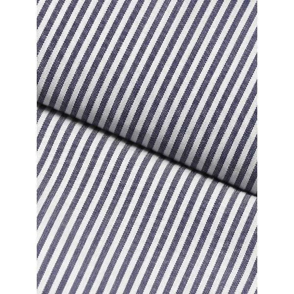 ドレスシャツ/長袖/メンズ/JAPAN MADE SHIRTS/クレリック&タブカラードレスシャツ ストライプ ネイビー×ホワイト uktsc 04