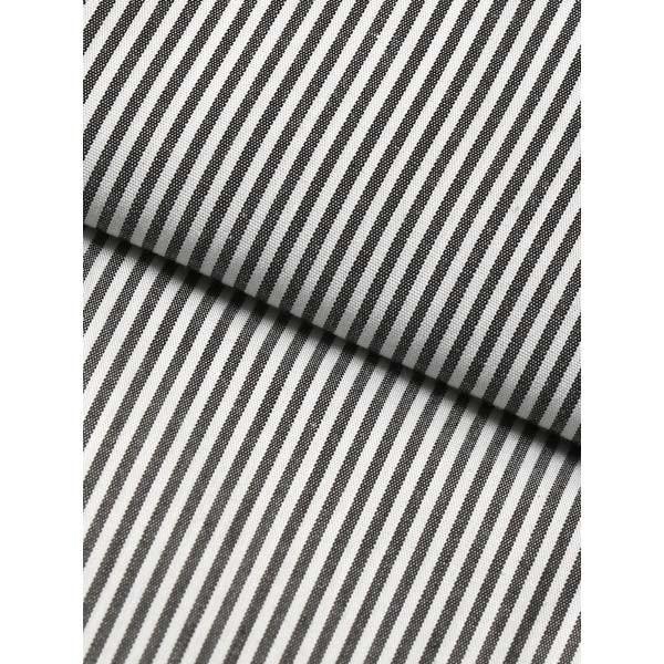 ドレスシャツ/長袖/メンズ/JAPAN MADE SHIRTS/クレリック&タブカラードレスシャツ ストライプ チャコールグレー×ホワイト uktsc 04