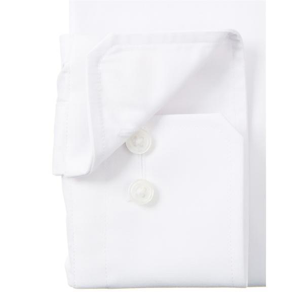 ドレスシャツ/長袖/メンズ/SUPER EASY CARE/ワイドカラードレスシャツ 無地 〔EC・BASIC〕 ホワイト|uktsc|03