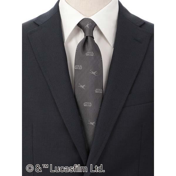 ネクタイ/レギュラータイ/メンズ/STAR WARS NECKTIE/小紋柄ネクタイ グレー系 uktsc