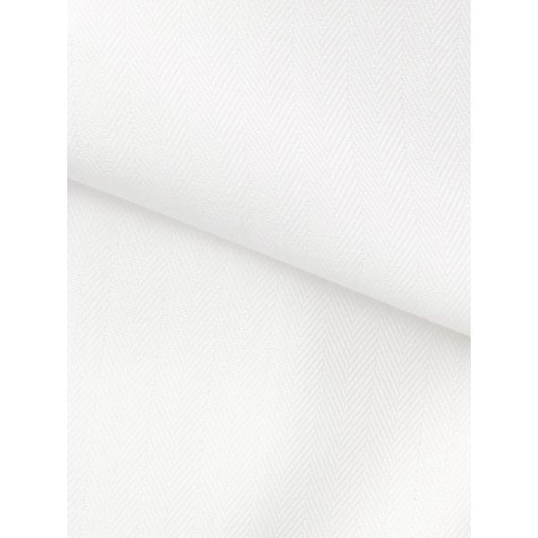 ドレスシャツ/長袖/メンズ/SUPER EASY CARE/ワイドカラードレスシャツ ヘリンボーン 〔EC・BASIC〕 ホワイト uktsc 04