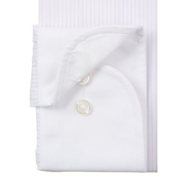 ドレスシャツ/長袖/メンズ/SUPER EASY CARE/クレリック&ワイドカラードレスシャツ 〔EC・BASIC〕 ホワイト×パープル|uktsc|03