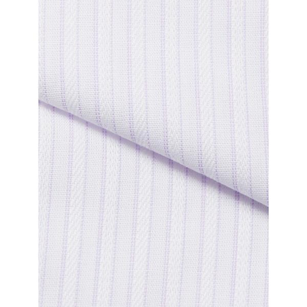 ドレスシャツ/長袖/メンズ/SUPER EASY CARE/クレリック&ワイドカラードレスシャツ 〔EC・BASIC〕 ホワイト×パープル|uktsc|04