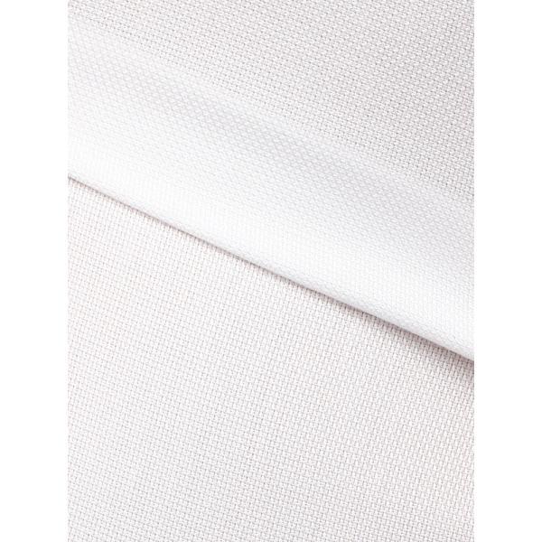 ドレスシャツ/長袖/メンズ/半袖・ICE COTTON/ワイドカラードレスシャツ 織柄 ホワイト uktsc 08