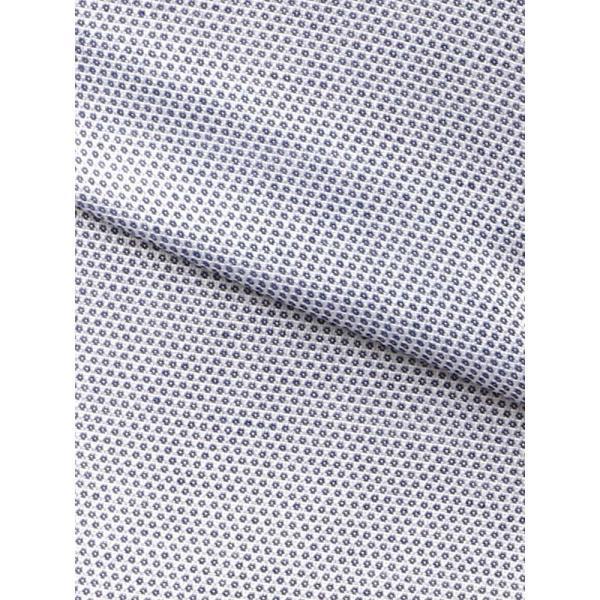 ドレスシャツ/長袖/メンズ/半袖・ICE COTTON/ワイドカラードレスシャツ 織柄 ネイビー×ホワイト uktsc 08